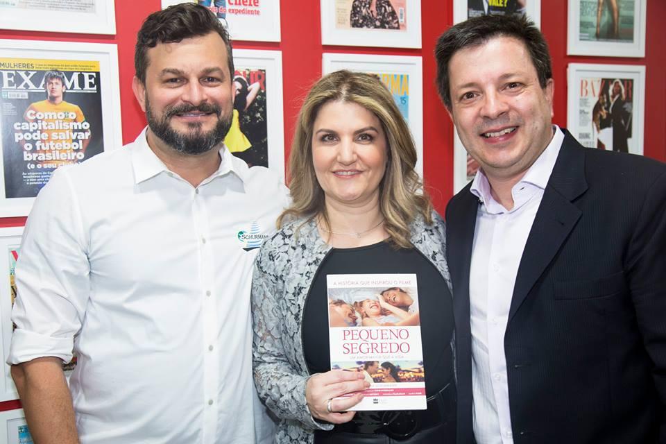 David Schurmann, Fernanda Dabori, presidente da Advice, e Laerte Oliveira Junior