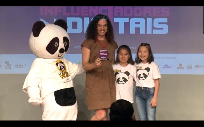 Cerimônia de premiação da 2ª edição do Prêmio Microinfluenciadores, em 2020