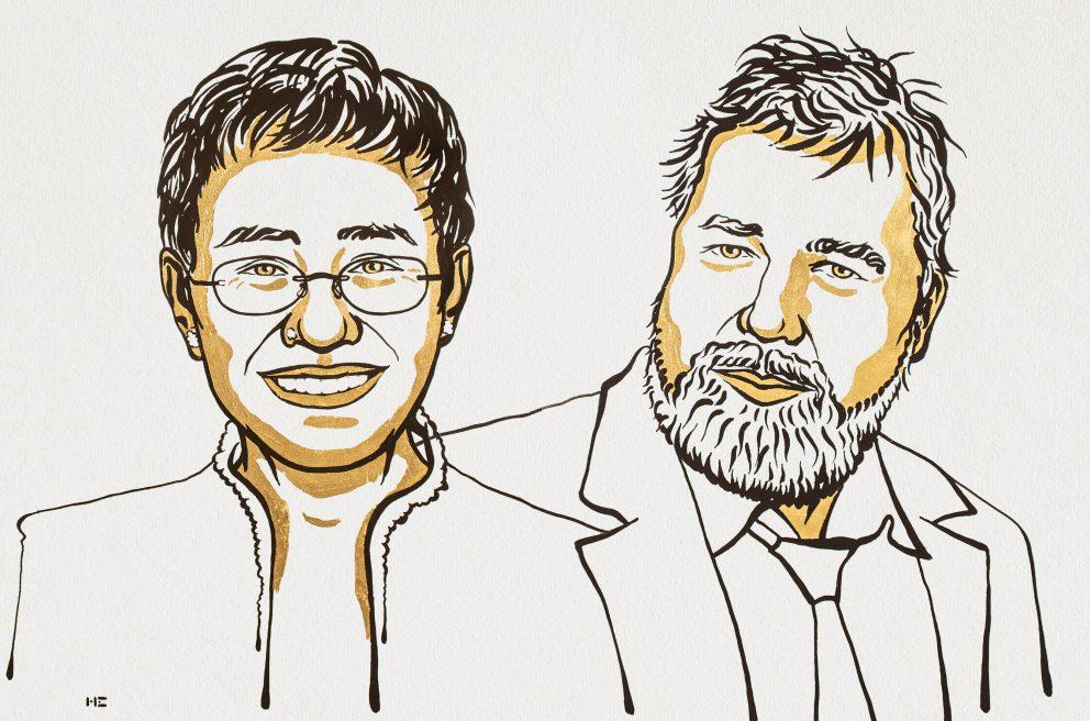 Ressa e Muratov são laureados com o Nobel da Paz 2021